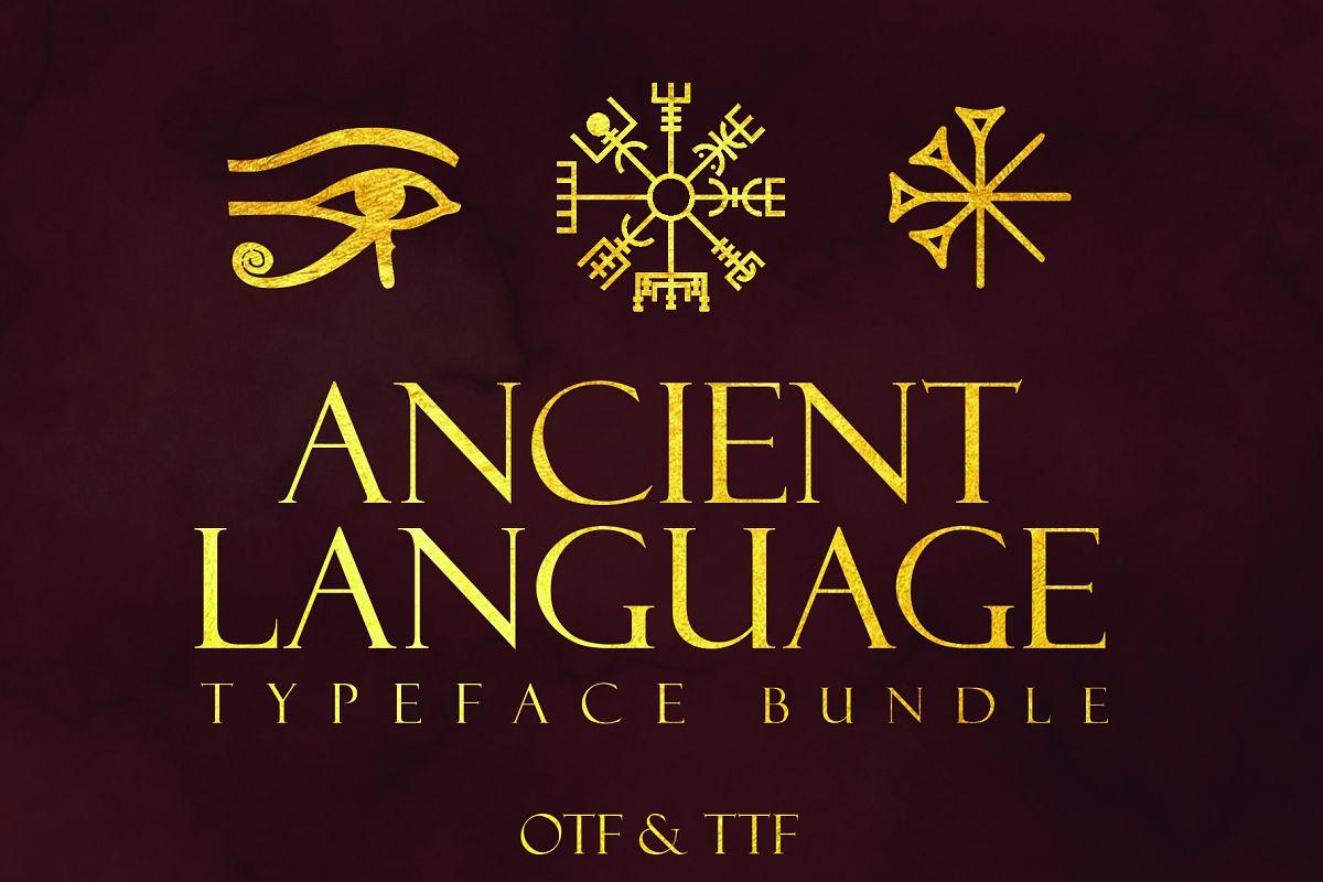 Ancient Languages Typeface Bundle example image 1