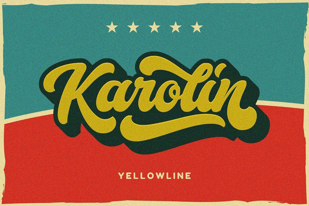 Karolin - Retro Font example image 1