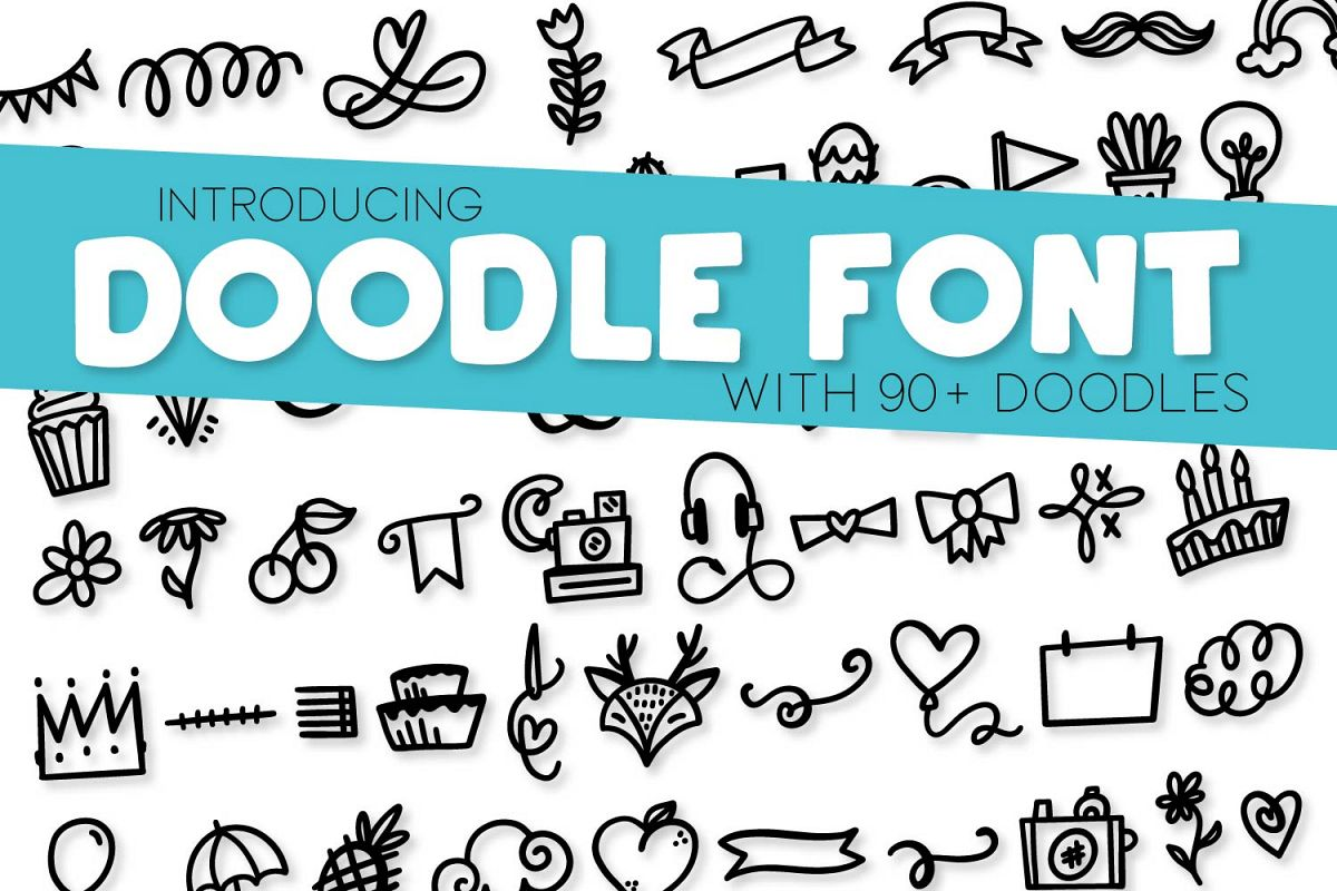 Doodle Font - With over 90 Dingbats! example image 1