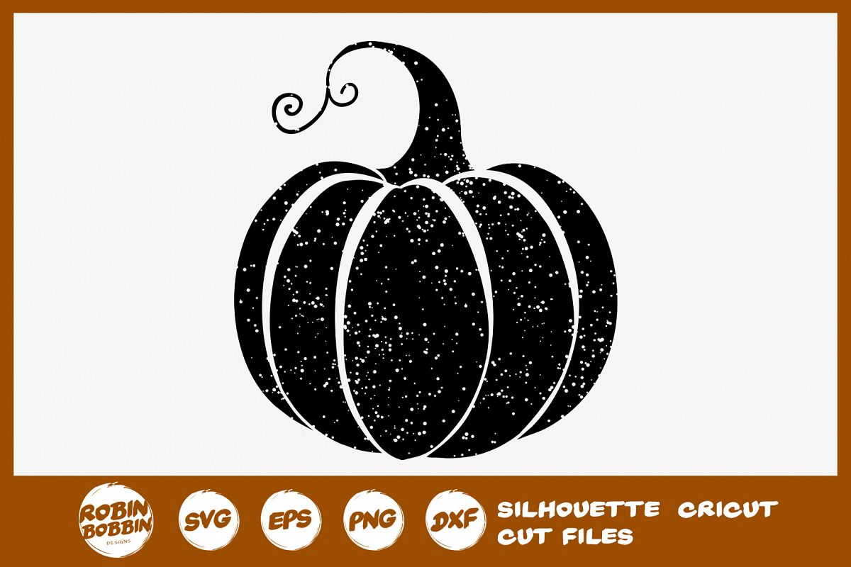 Pumpkin SVG - Grunge Pumpkin SVGp example image 1