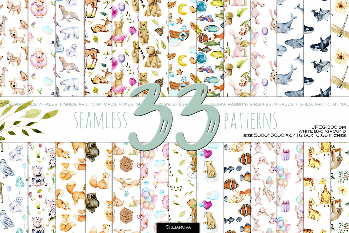33 Patterns with Animals example image 1