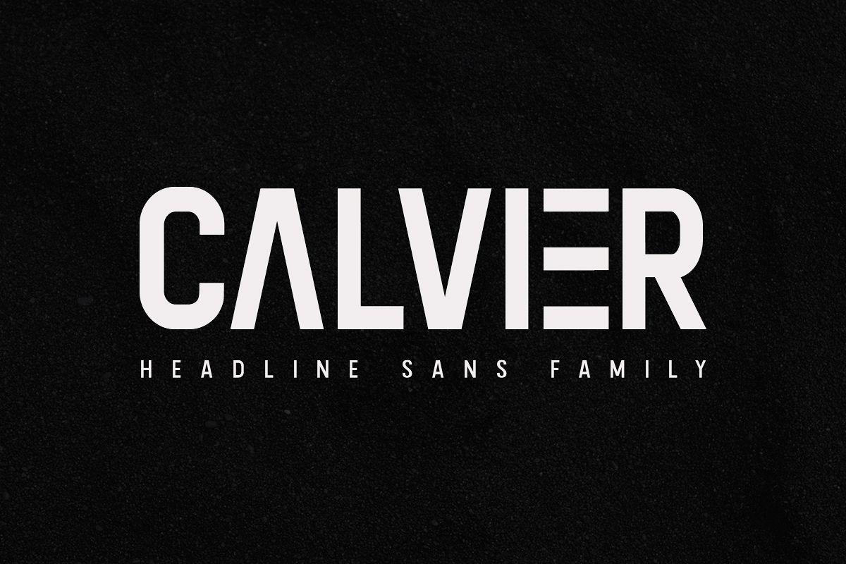Calvier - Headline Sans Family example image 1