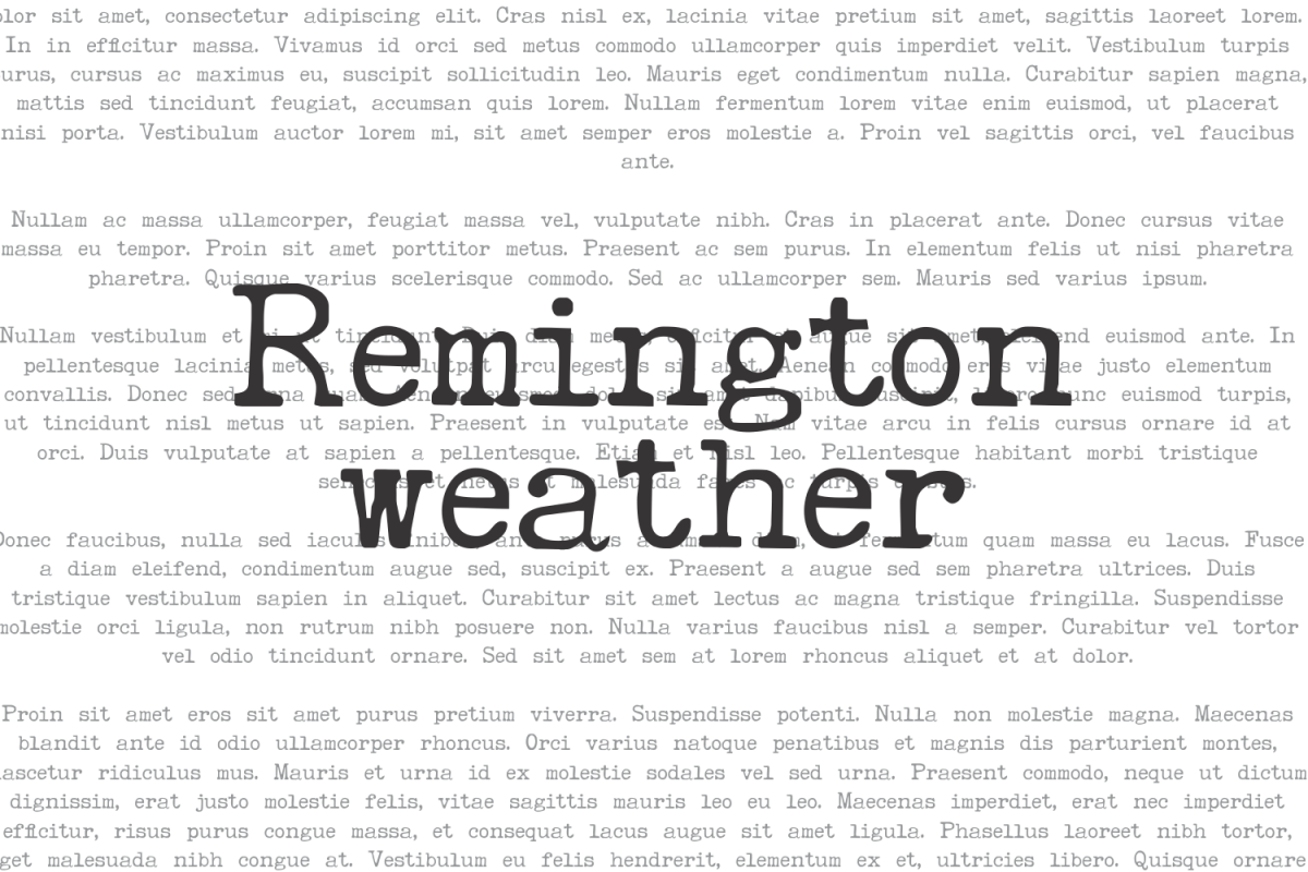Remington Weather example image 1