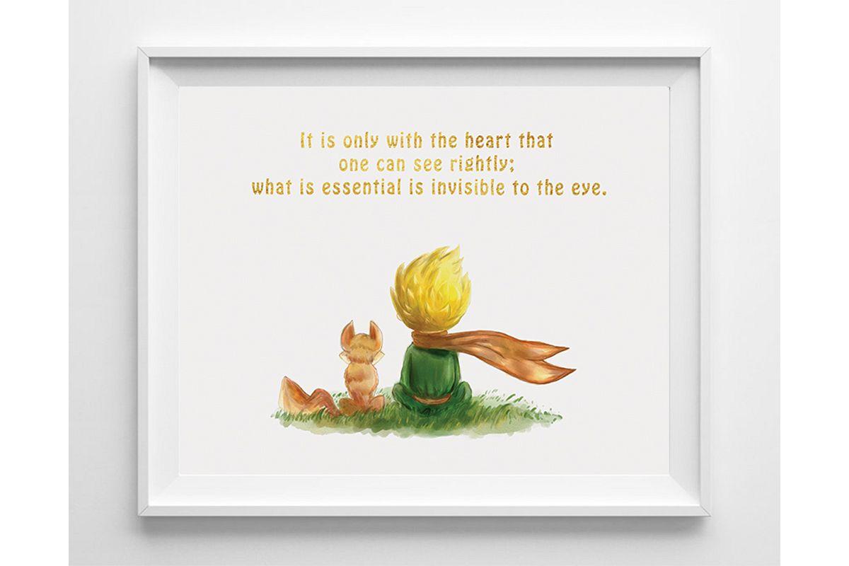 Nursery Wall Art The Little Prince Prints Example Image 1