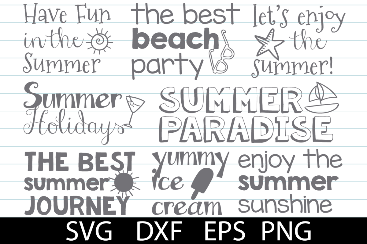 Summer Pack SVG DXF PNG EPS example image 1