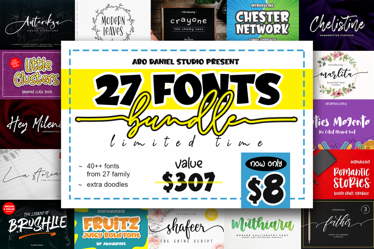 Various Font Bundle example image 1