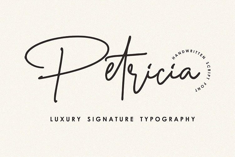 Petricia - Handwritten Script Font example image 1