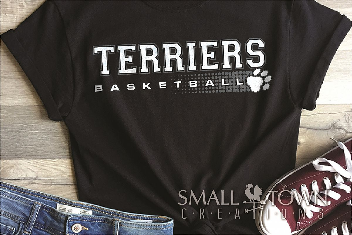 Terriers Basketball, Team, Sport, PRINT, CUT & DESIGN example image 1