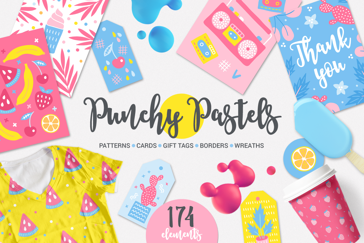 Punchy Pastels Kit example image 1
