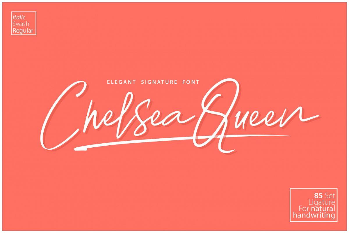 Chelsea Queen || Elegant Signature example image 1