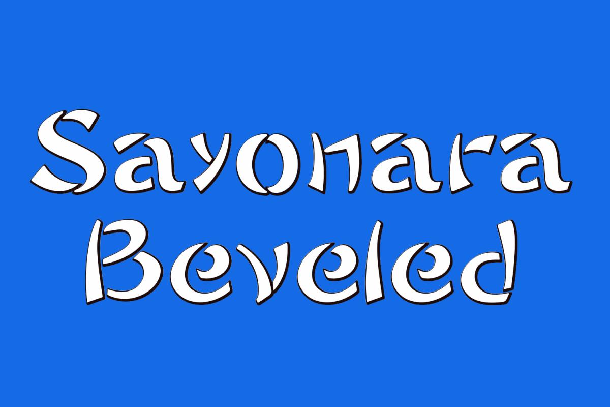 Sayonara Beveled example image 1