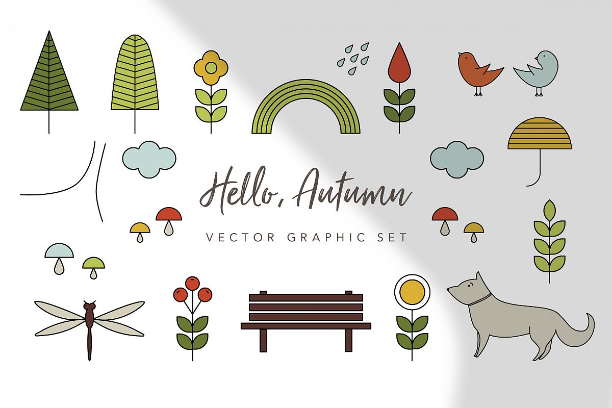 Hello Autumn Graphic Set example image 1