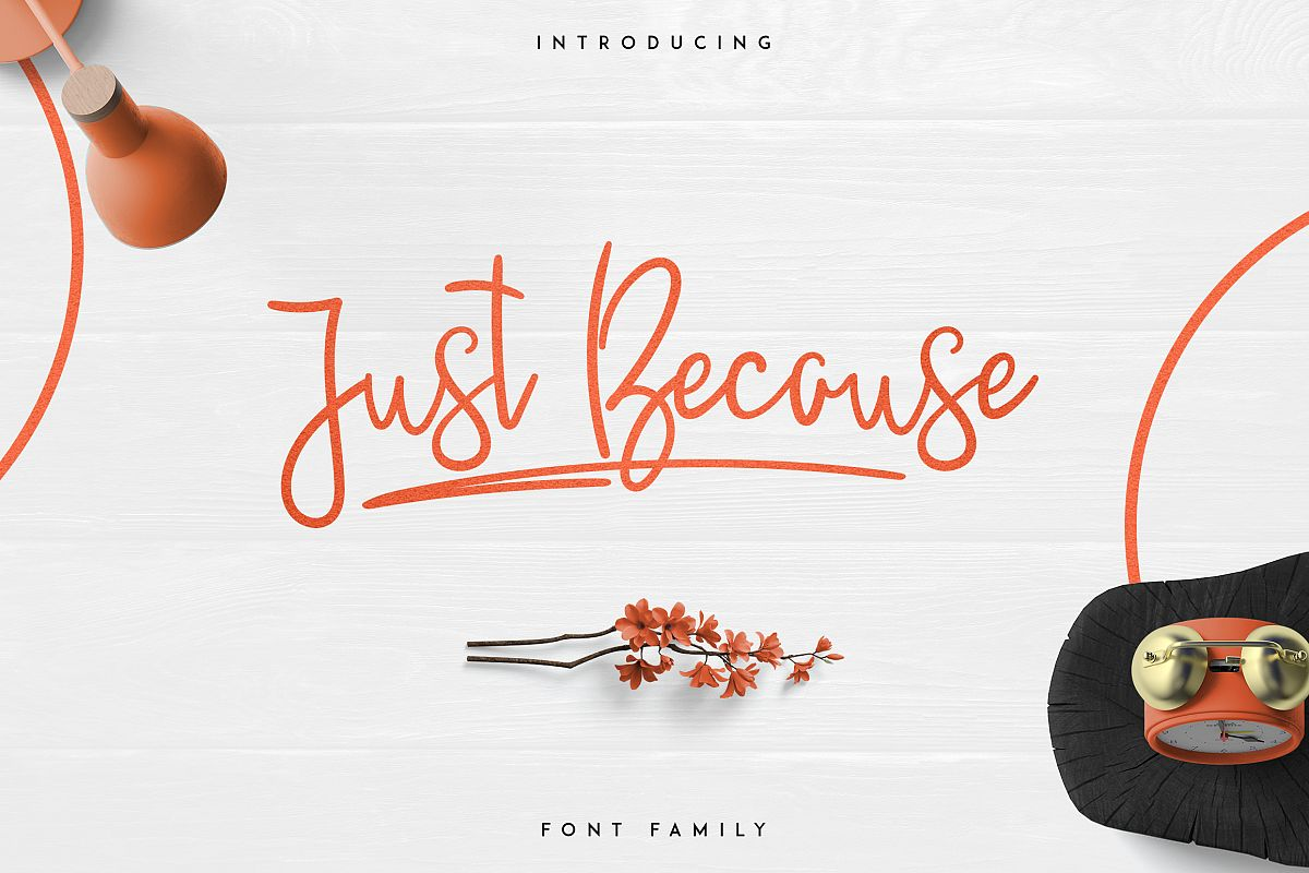 JustBecause font family example image