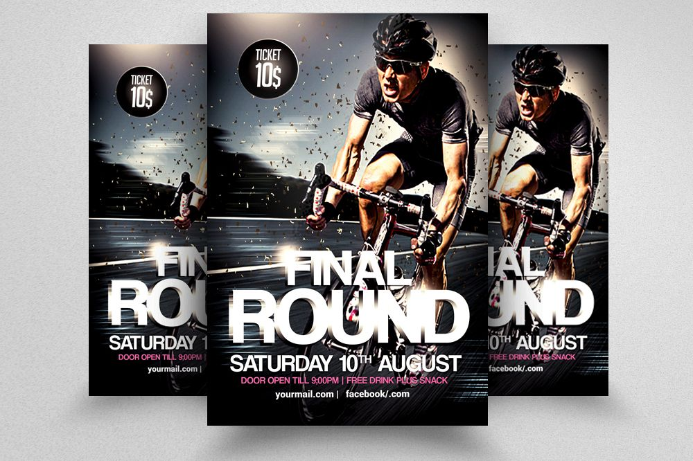 Bicycle Racing Flyer Template example image 1