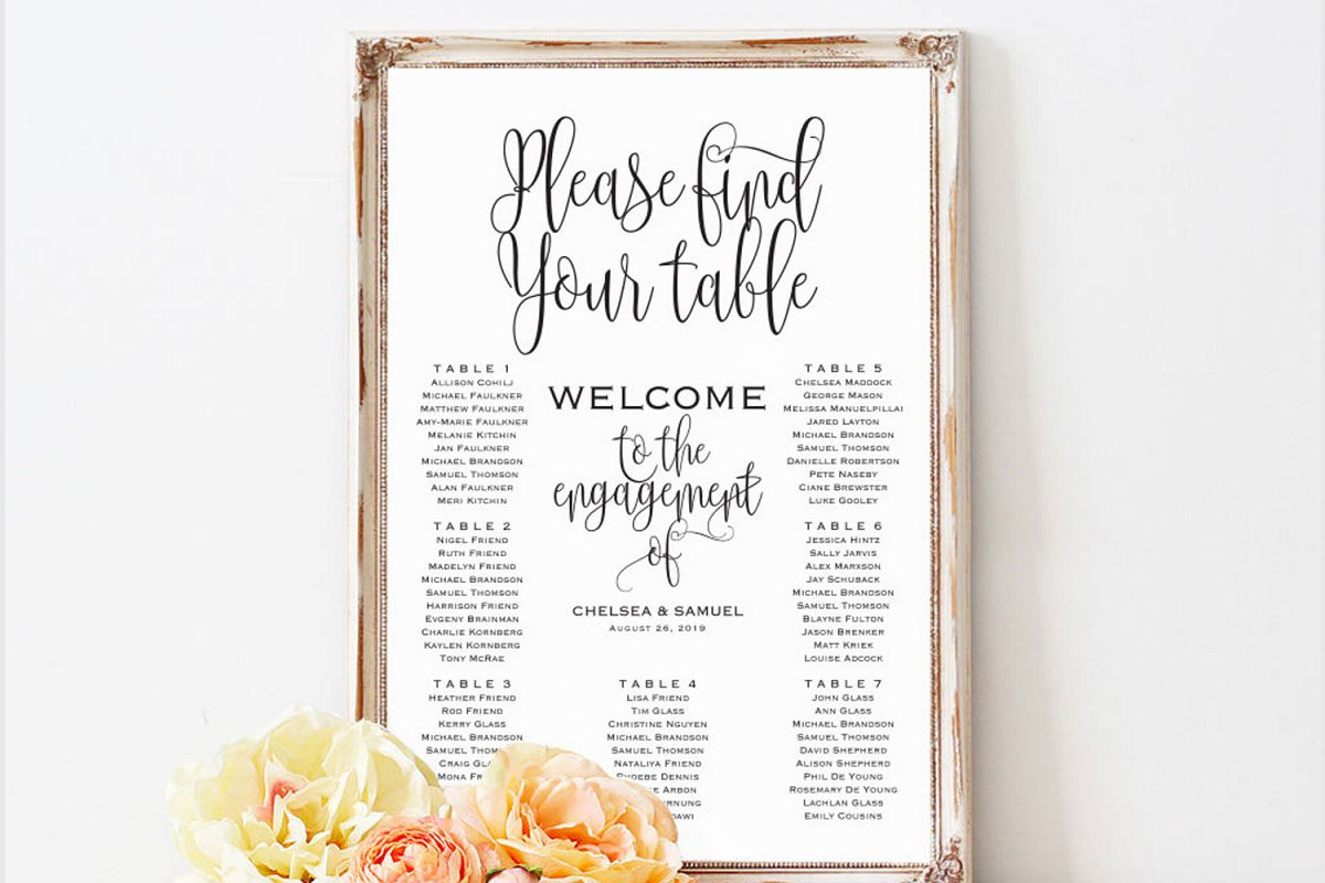 Wedding Seating Chart Sign example image 1