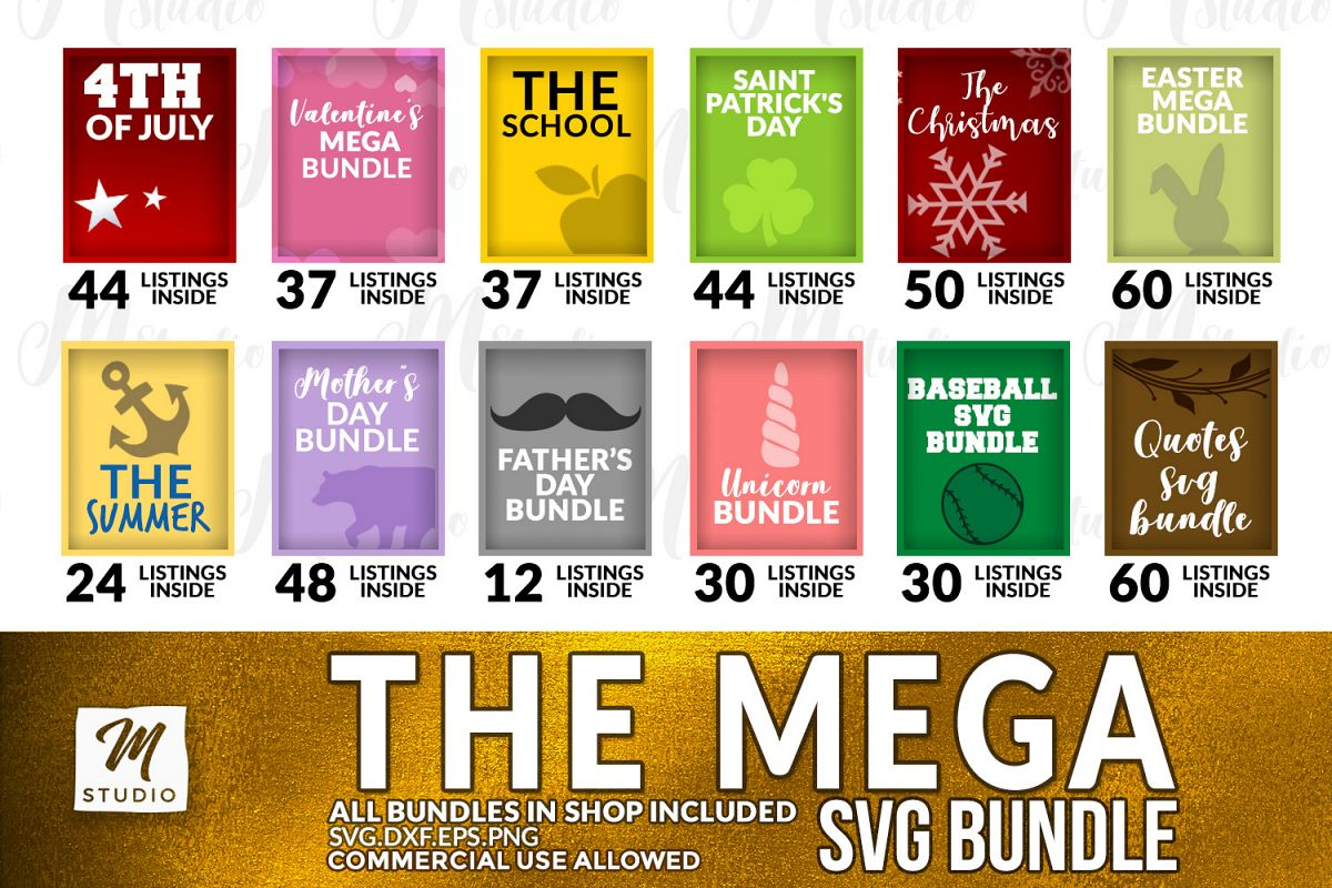 The Mega SVG Bundle example image 1
