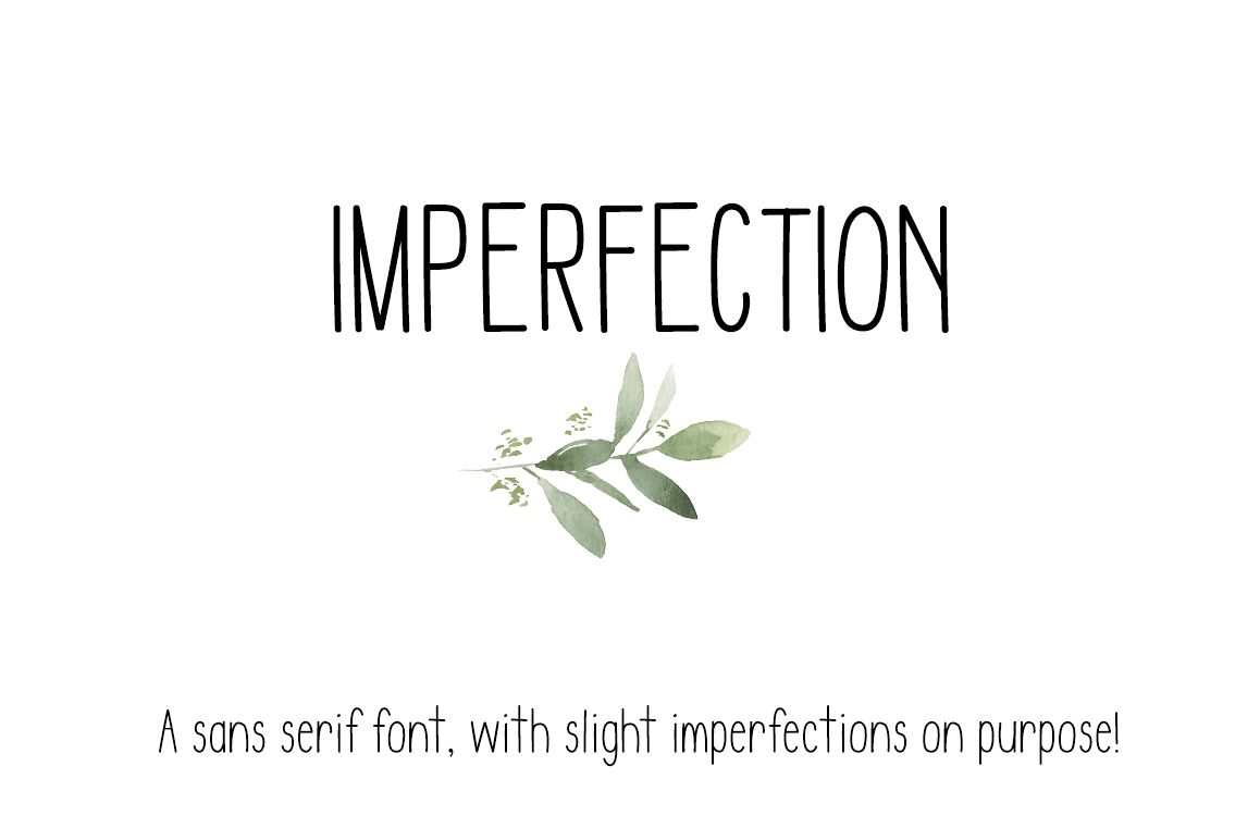 IMPERFECTION - A Sans Serif hand written font example image 1