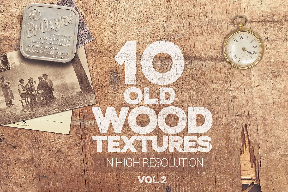 Old Wood Textures x10 vol2 example image 1