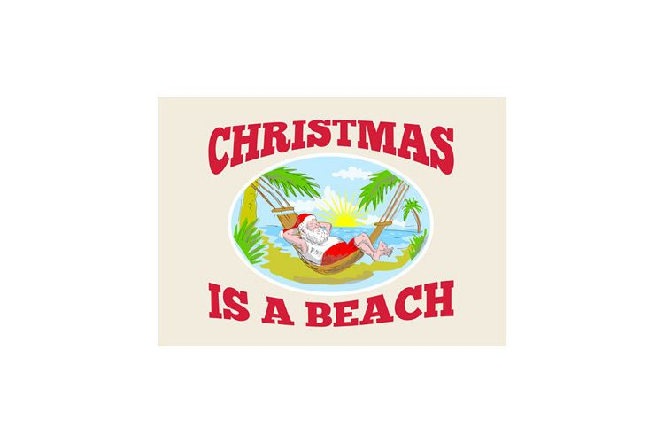 Santa Claus Father Christmas Beach Relaxing example image 1