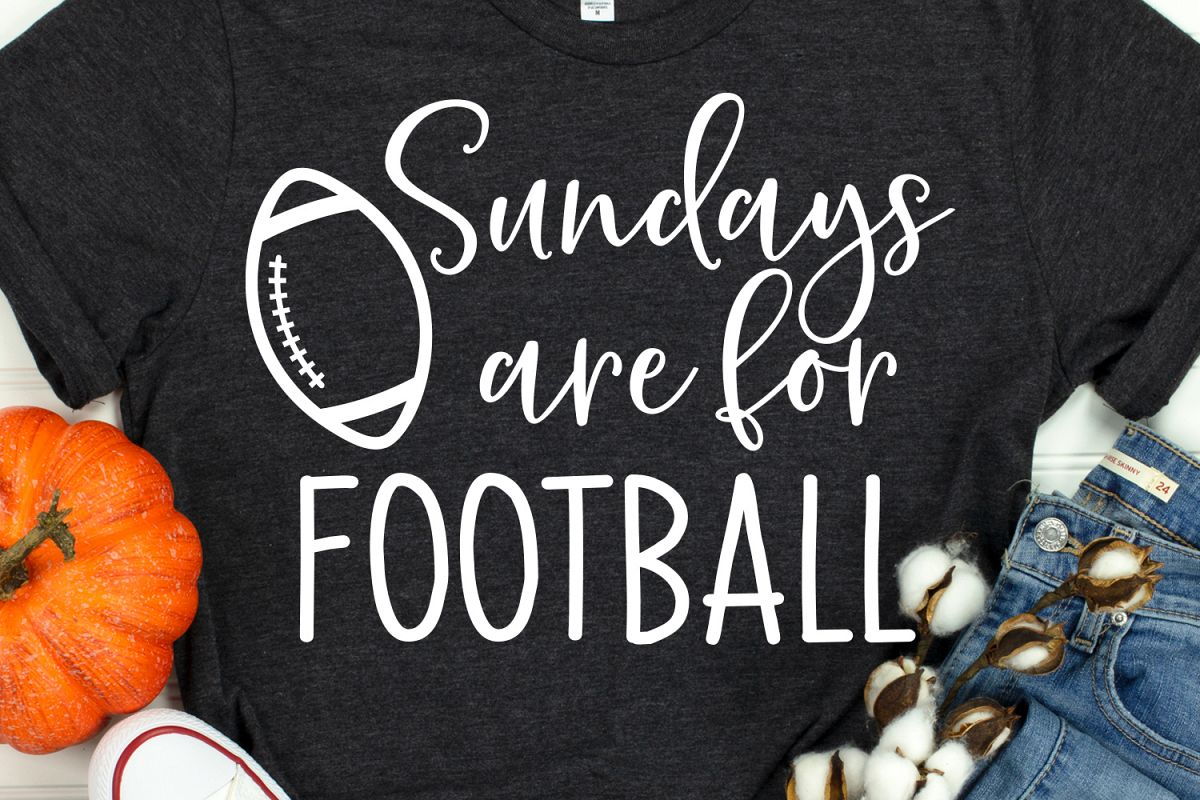 Football Svg, Sundays Are for Football Svg, Cheer Svg, Cheer example image 1