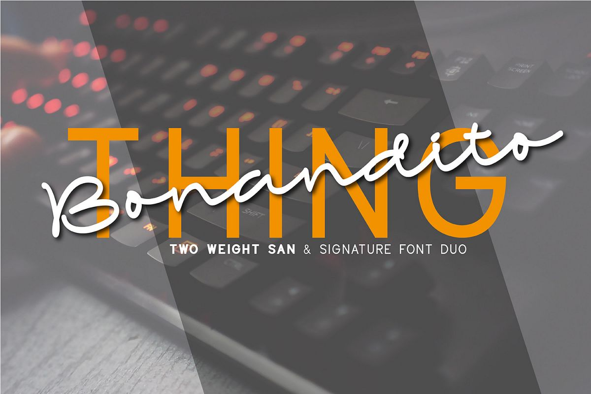 Bonandito Thing Font Duo example image 1