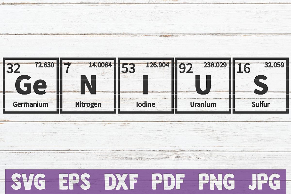 Genius Periodic Table SVG Cut File   commercial use example image 1