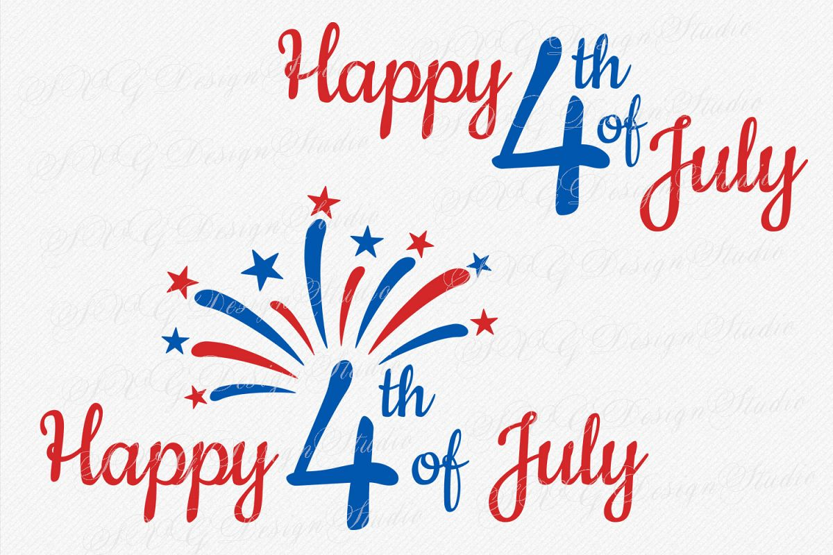 Happy 4th of July SVG,  fourth cutting svg file, svg Fireworks, 4 th of July SVG, 4th of July Patriotic SVG example image 1