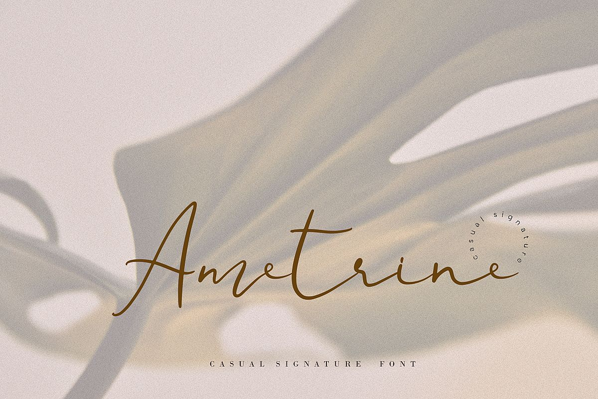 Ametrine, super-casual style font example image 1