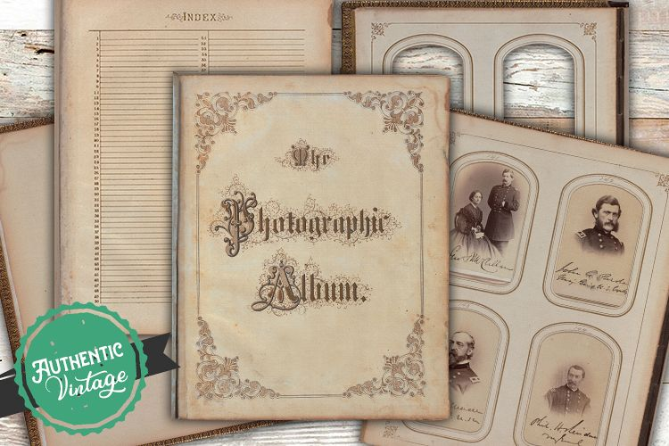Victorian Era Antique Album Pages Photos Frames - Scrapbook example image 1