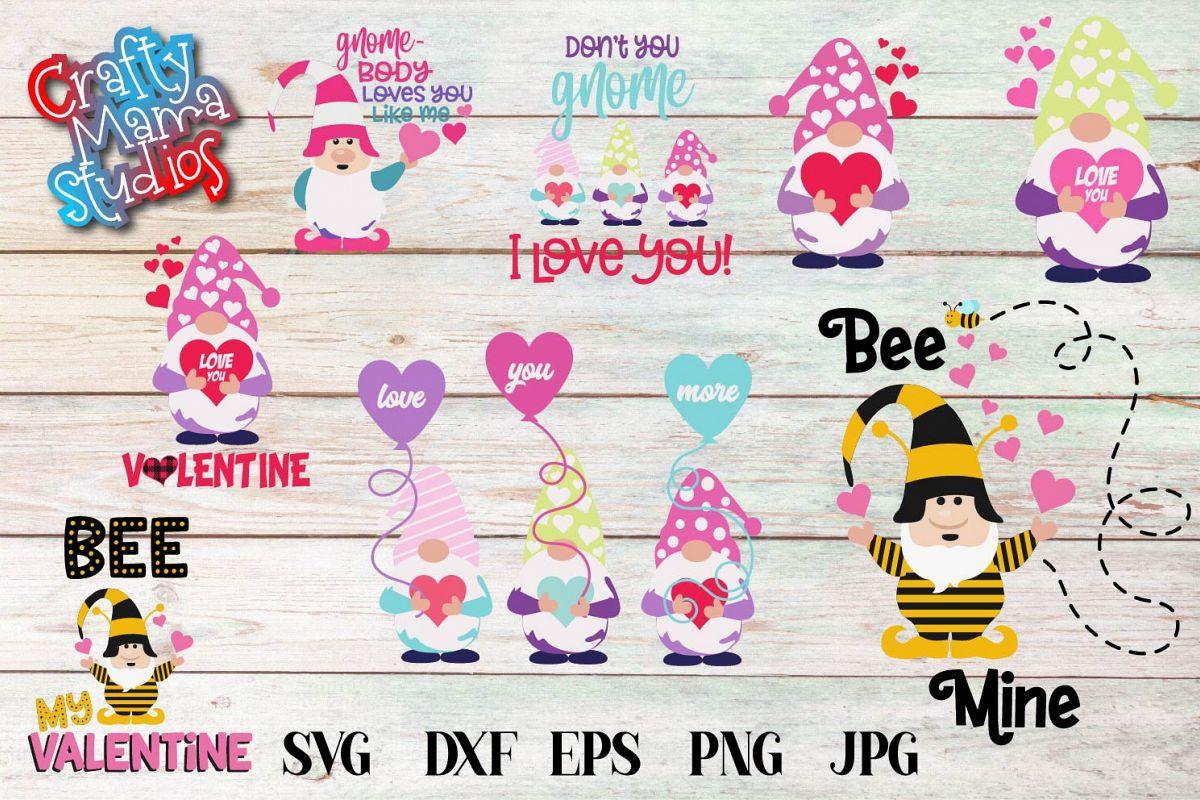 Valentine's Day SVG Valentine Gnome Bundle Gnome Sublimation example image 1