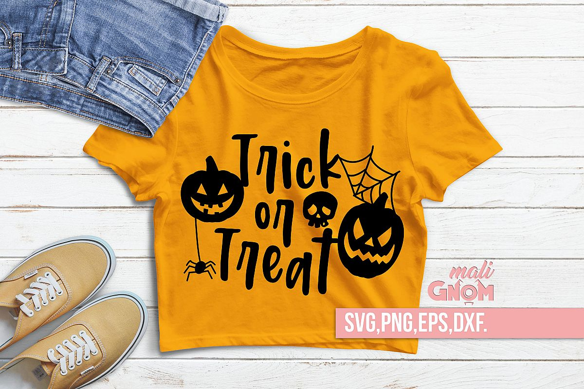 Trick or Treat SVG, Halloween SVG file, Trick or Treat Bag S example image 1