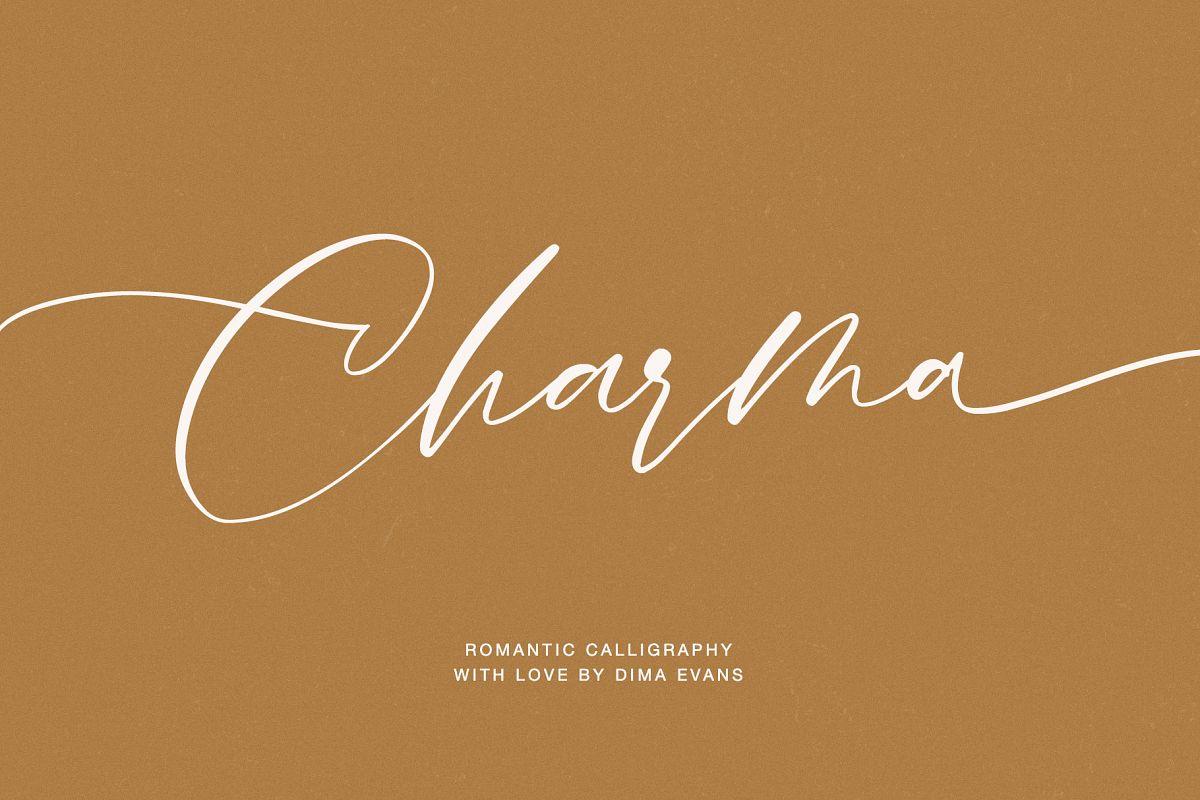 Charma // Romantic Script example image 1