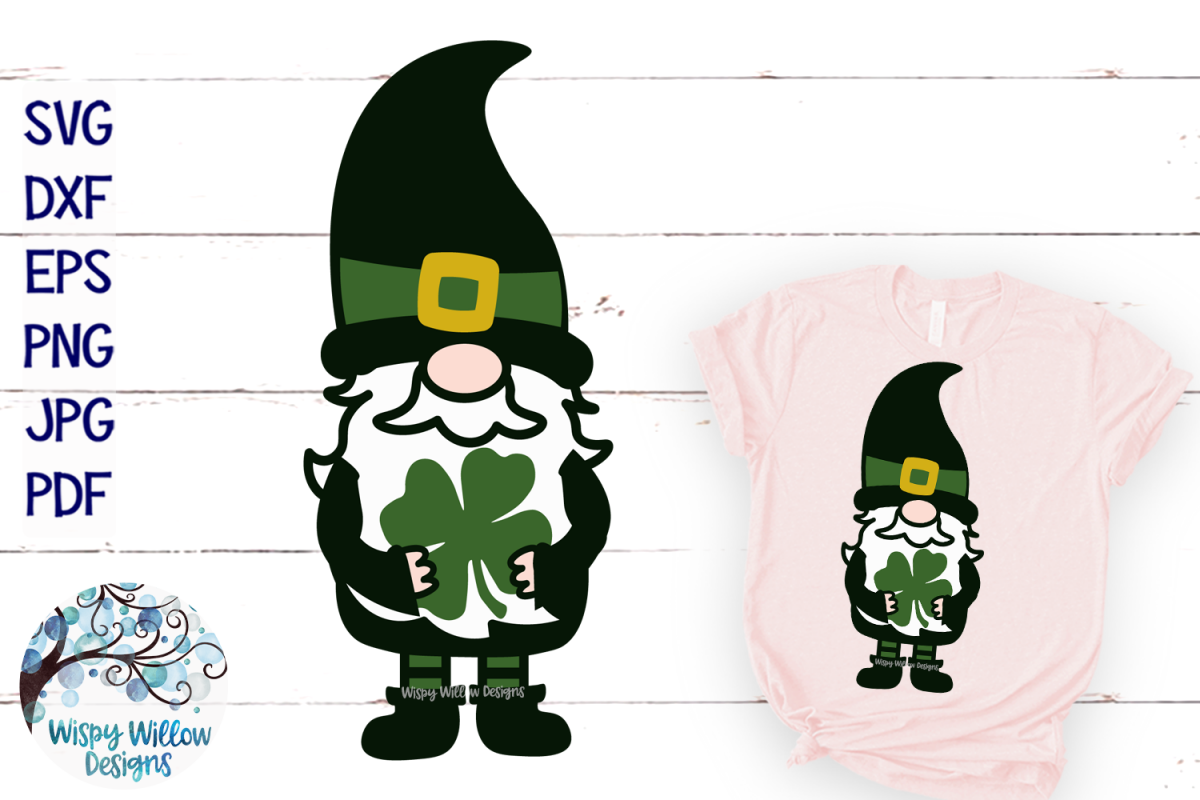 St. Patrick's Day Gnome | Lucky Gnome SVG example image 1
