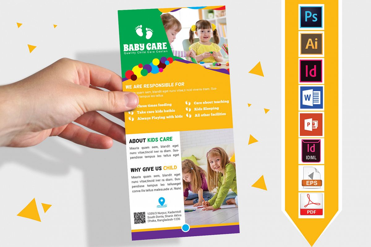 Rack Card | Baby Care DL Flyer Vol-03 example image 1