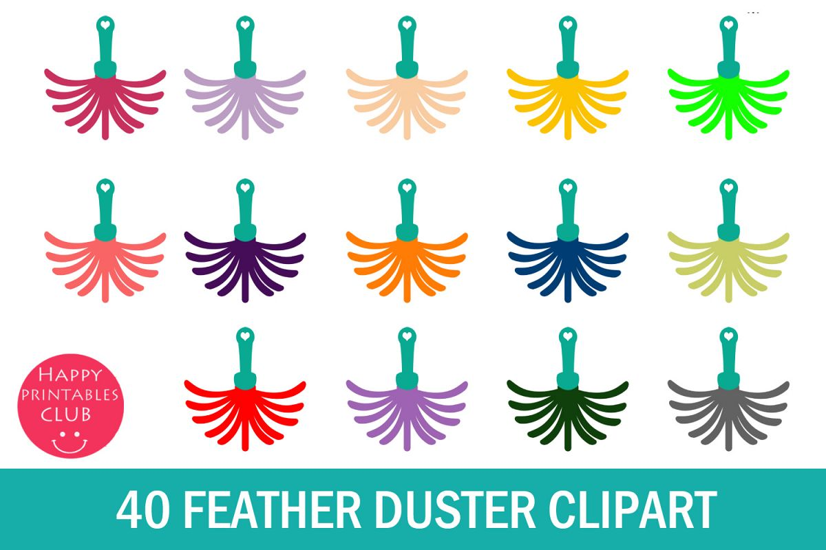 40 Feather Duster Clipart- Duster Clipart- Dust Cleaner PNG example image 1
