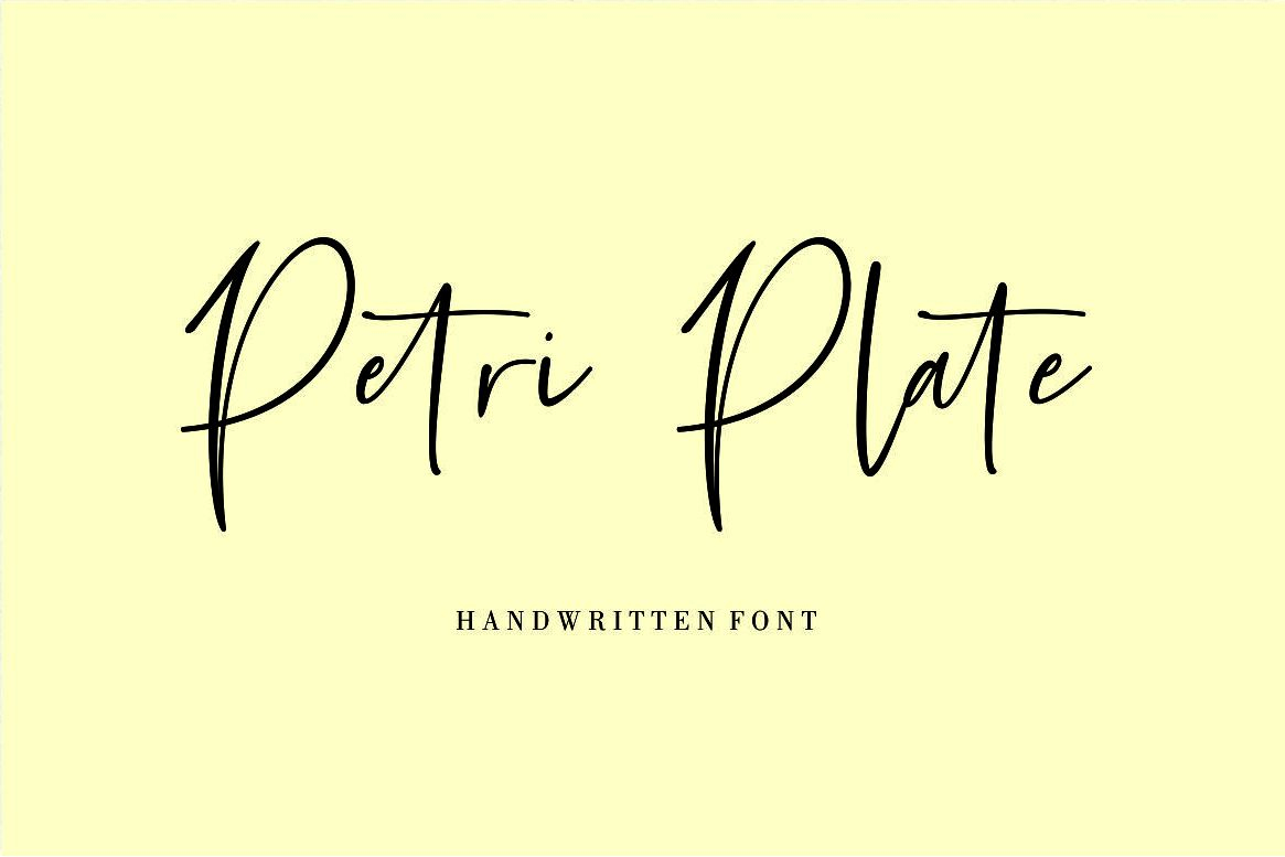 Petri Plate // Handwritten Font example image 1