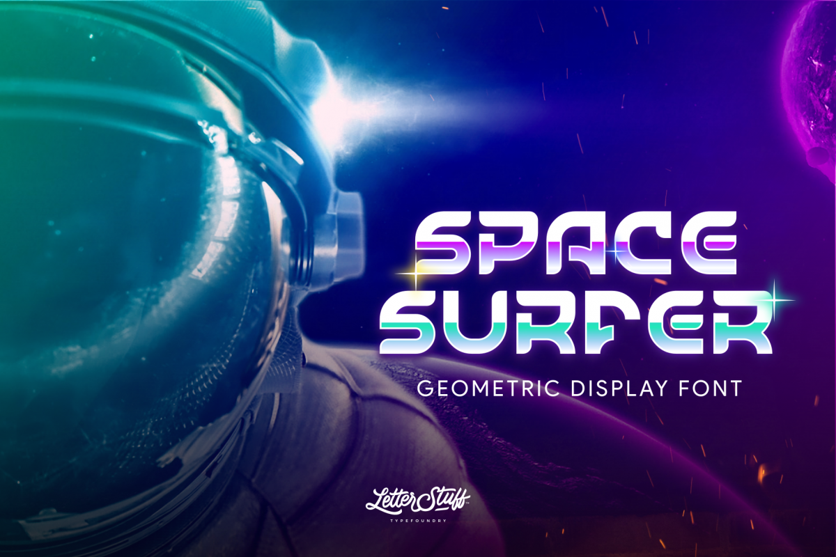 SpaceSurfer Display Font example image 1