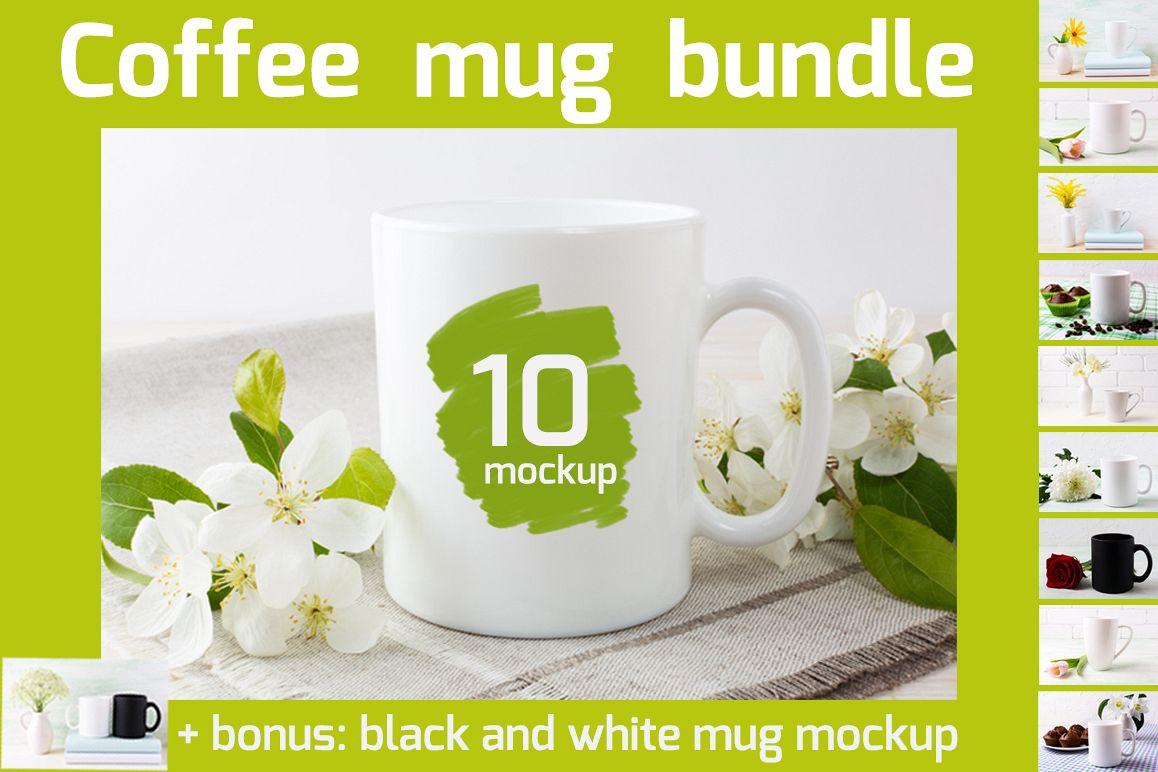 Coffee mug mockup bundle example image 1