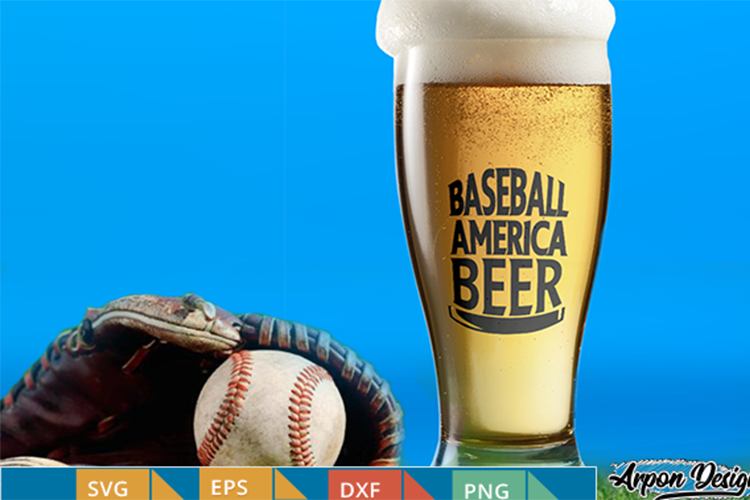 Baseball american, beer sticker example image 1