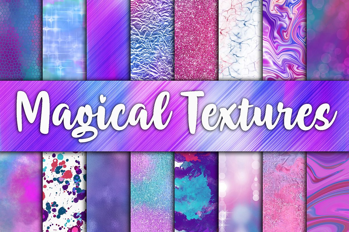 Magical Textures Digital Papers example image 1