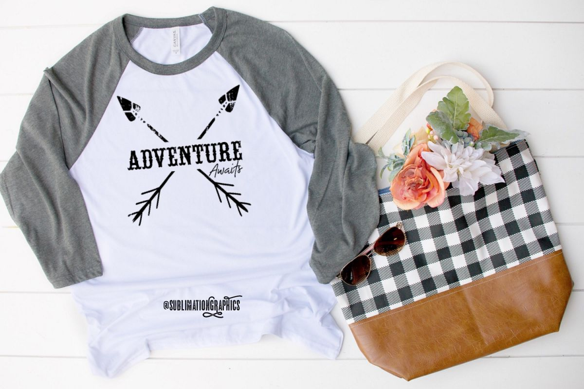 Adventure Awaits Sublimation Digital Download example image 1