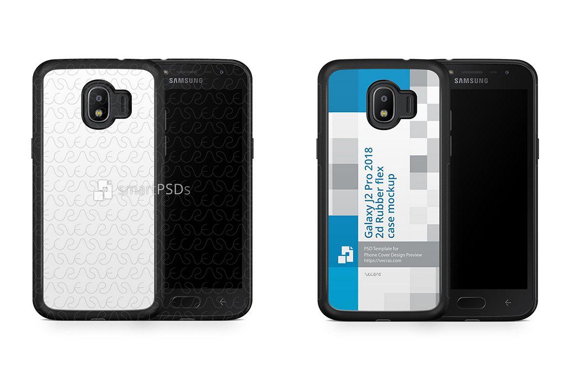 Samsung Galaxy J2 Pro 2d Rubberflex Case Design Mockup 2018 Example Image 1