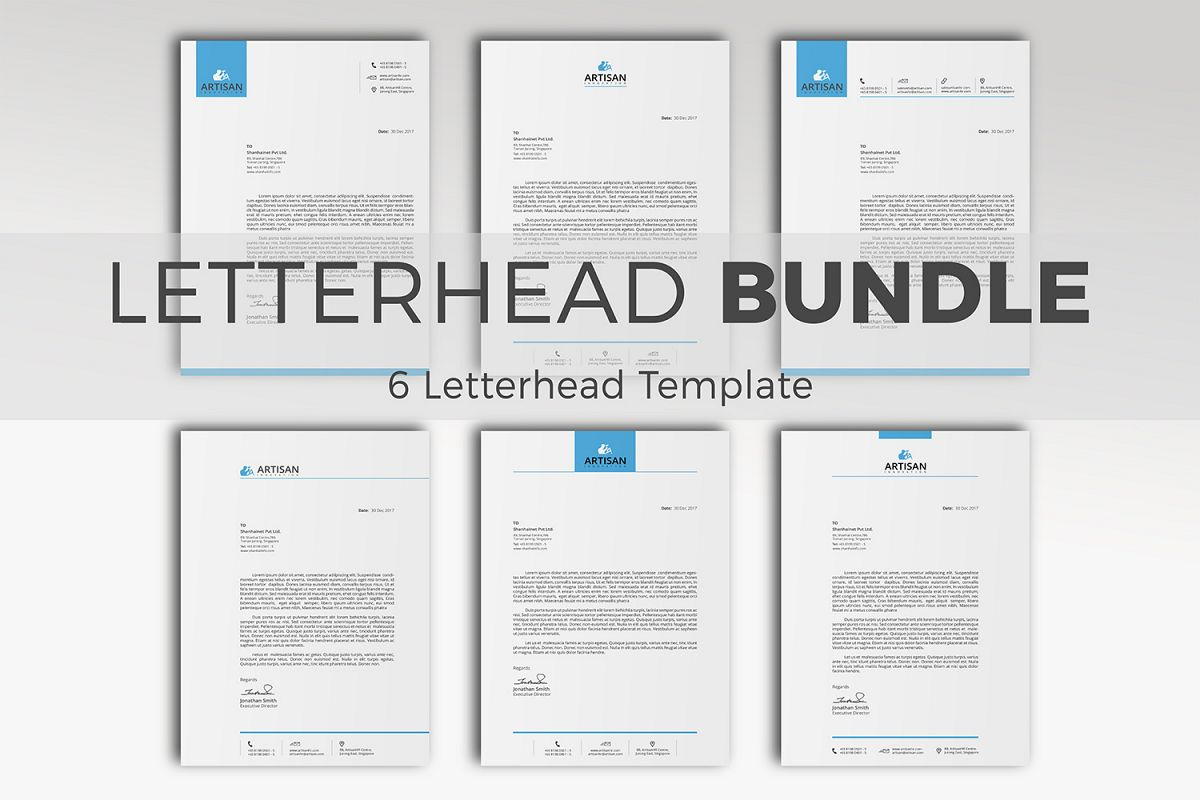 Simple Letterhead Bundle example image 1