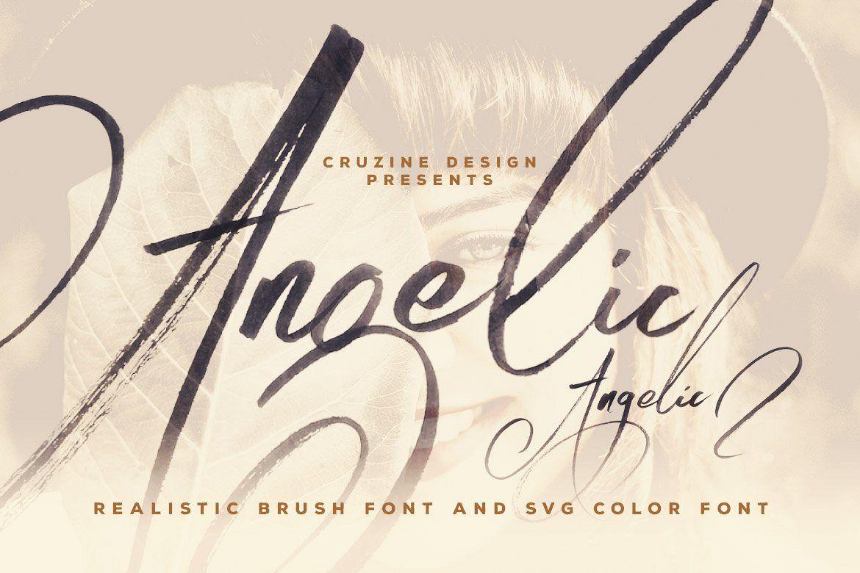 Angelic Brush & SVG Font example image 1