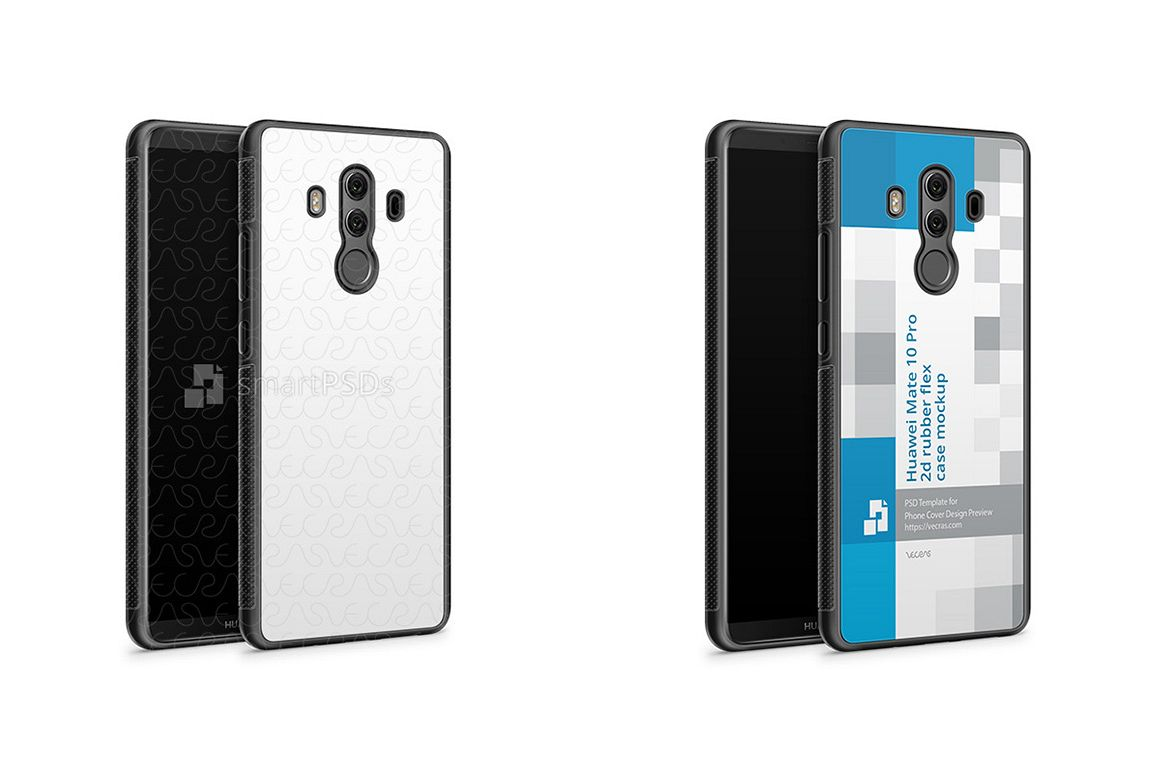 Huawei Mate 10 Pro 2d RubberFlex Case Design Mockup 2017 example image 1