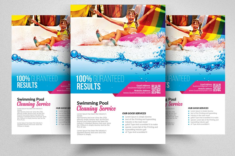 Pool Cleaning Flyer Templates