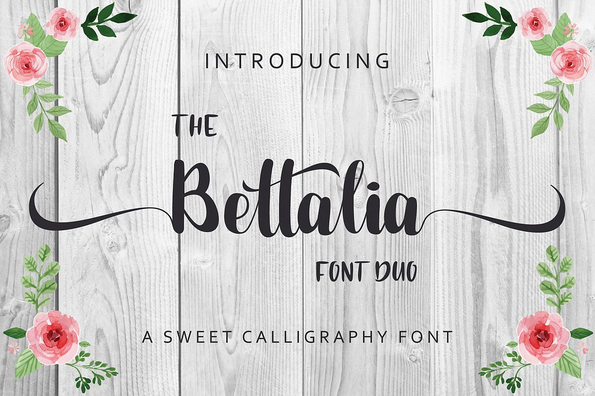 The Bettalia Font Duo example image 1