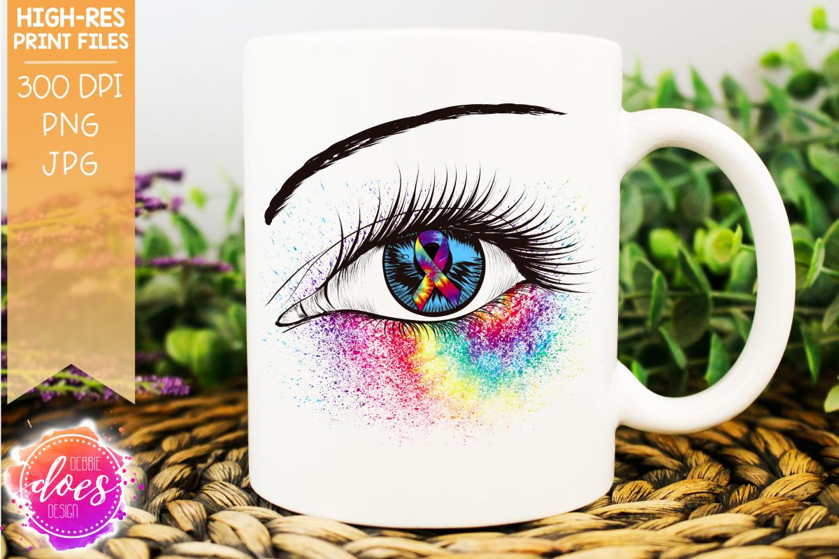 Distracted Driving Awareness Ribbon Eye Printable Design example image 1