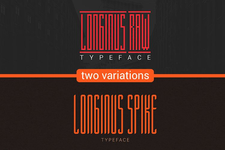 Longinus Typeface with two variations example image 1