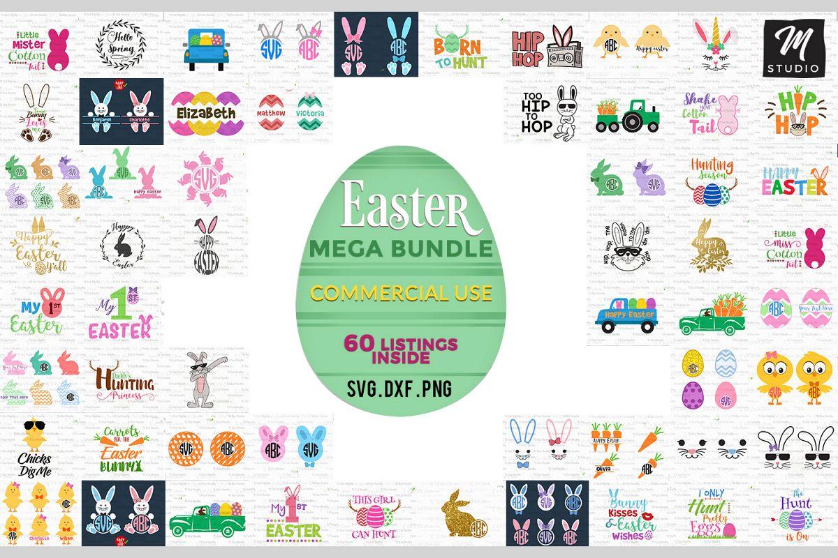 Easter Mega Bundle svg. example image 1